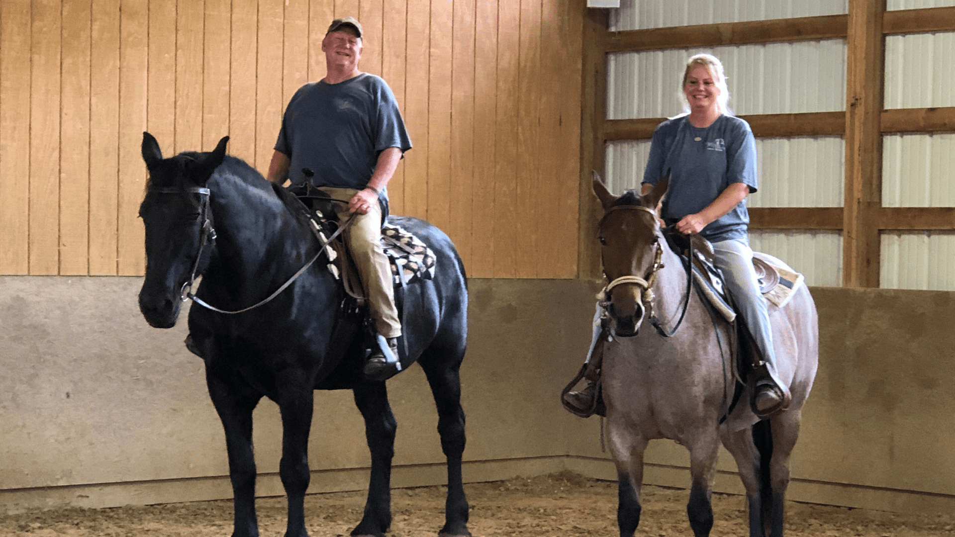 Inside the stables at Rivers Pointe Estates a horseback riding community