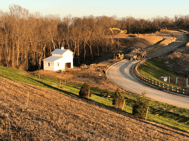 Northern Kentucky new community barn on Rivers Pointe Drive